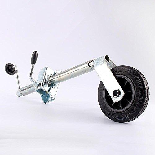 Schweres Anhängerrad, Stützrad für Wohnwagen, Anhänger aus Edelstahl, 35 mm, Tragkraft 100 kg