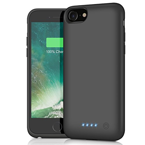 Coque Batterie pour iPhone 6/6S/7/8, Kilponen [6000mAh] Rechargeable Chargeur Batterie Externe Mince Power Bank Portable Étui Batterie Chargeur Cas Protection pour Apple iPhone 6/6S/7/8 (4,7 Pouces)