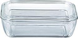 Luminarc 60118 Butterdose 17x10,5cm mit Deckel, 1 Stück, transparent