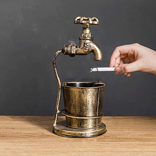 HS-01 Retro Aschenbecher, Personalisierte Dekoration Ornamente Home Wohnzimmer Couchtisch Restaurant Bar Kreative Dekoration Aschenbecher (Bronze) -