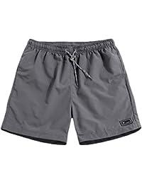cccf3651f5 Bollymu Men's Summer Shorts Pure Color Regular Fit Casual Sports Lounge  Short Pants M-5XL