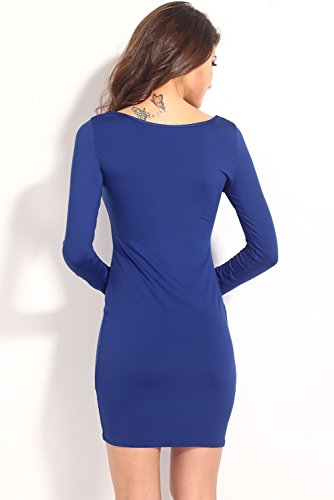 E-Girl femme Bleu SY21119 robe de cocktail Bleu