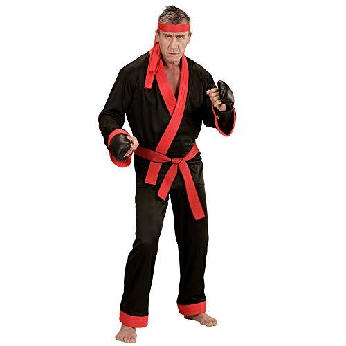 Widmann 73993 - Erwachsenenkostüm Kickboxer, Oberteil, Hose, Gürtel, Stirnband und - Damen Boxer Fancy Dress Kostüm