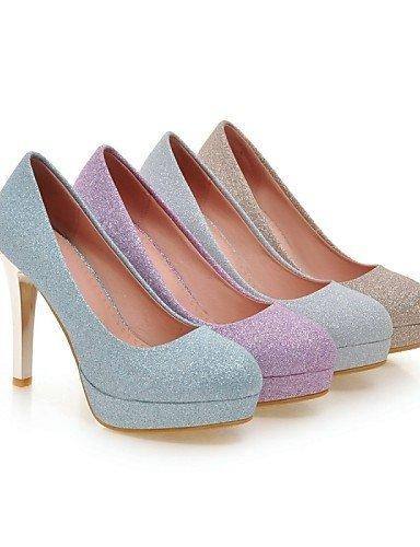 ShangYi Chaussures Femme - Mariage / Bureau & Travail / Soirée & Evénement - Bleu / Violet / Argent / Or - Talon Aiguille - Talons - Talons - Blue