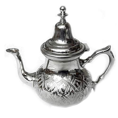 Moroccan teapot Chiselled Silver Height 22 cm Handmade Oriental Moroccan Tea Pot or as a Coffee Pot for Coffee