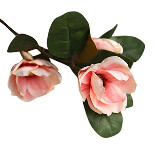 squarex Clearance Künstliche Fake Blumen Leaf, Magnolia Floral Hochzeit Bouquet Party Home Decor, Perfekt für Dekoration Hochzeit Party, Haus und Garten Dekoration, Büro, Kaffee, Haus, Rose, As Show China Floral Bouquet