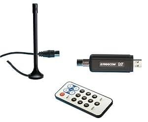 FREECOM DVB-T USB stick Dongle Adaptateur d'entrée Radio/Récepteur TNT