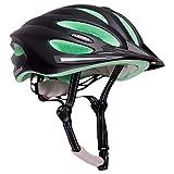 HUDORA Fahrrad-Helm Basalt Damen Herren, Fahrrad-Helm Rad-Helm Gr. 49-63, schwarz/grün
