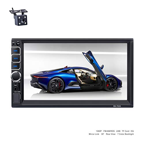 Reakosound autoradio 2 din 7 pollici Stereo Touch Screen Bluetooth  con supporto Radio FM/AM/USB / TF card / ingresso telecamera posterio