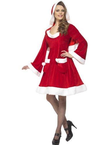he City Kostüm Kleid mit Kapuze und Taschen, Rot, Klein (Kostüm-party-stadt)