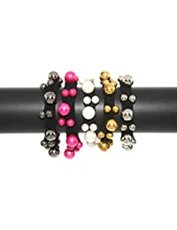 Radhey Fashion Newly Arrived Running Use Multicolored Rubber Bands/Hand Bracelets (Set Of 5)