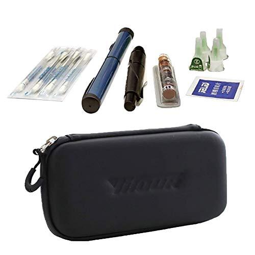 41EBEJ9AhsL - Bolsa de Refrigeración de Insulina, Portátil Caja de Cuidado Médico, para jeringas para la diabetes y medicamentos Black