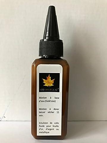 Emulsion de colle fluide, 60 ml, pour feuille d'or, d'argent,