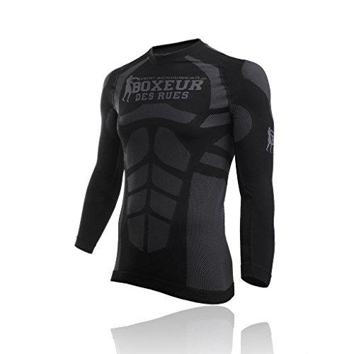 sale retailer 7eede 2d588 BOXEUR DES RUES Série Fight Activewear T- T-Shirt Homme, Noir, FR