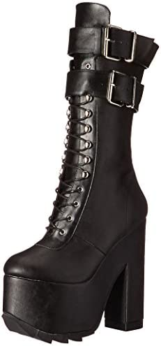 Demonia CRAMPS-202 Blk Vegan Leather UK 6 (EU 39)