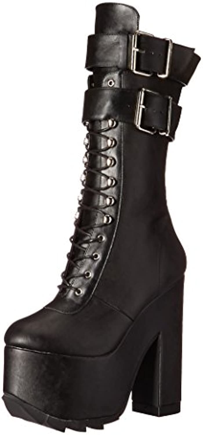 Demonia CRAMPS-202 Blk Vegan Leather UK 7 (EU 40)