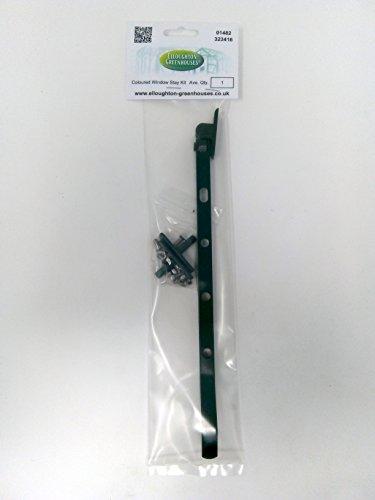 Gewächshaus Fenster Bleiben Kit in Grün pulverbeschichtet. Lüftungsöffnung Bar mit Pegs und Edelstahl Schrauben und Muttern.