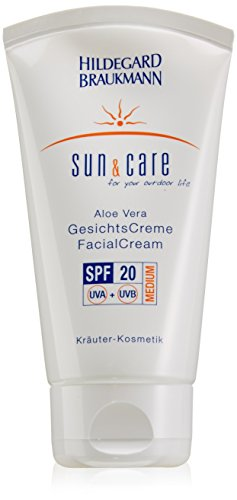 Aloe Vera Sun Cream (Hildegard Braukmann Sun und Care femme/women, Aloe Vera Facial Cream SPF20, 1er Pack (1 x 75 ml))