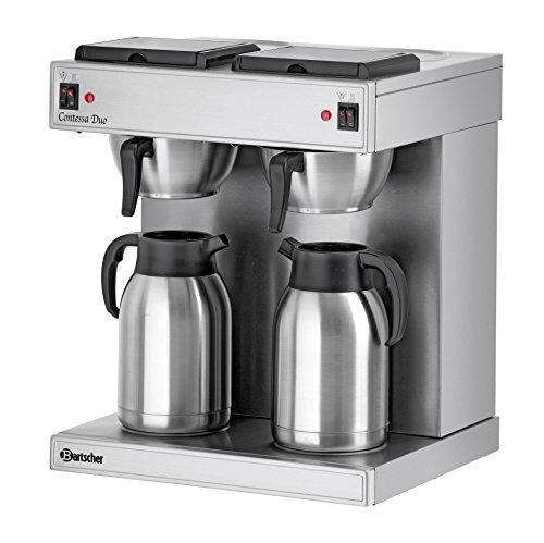 Bartscher Doppel-Kaffeemaschine Contessa Duo 2 x 2 Liter Isolierkanne