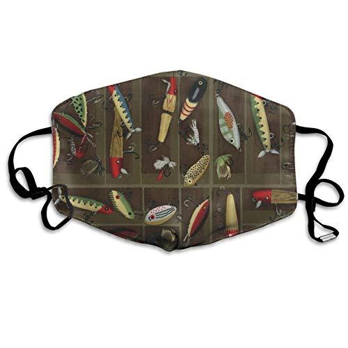 Louis Berry Staubschutzmaske, wiederverwendbar, für Männer und Frauen, Angelköder, Mundmaske, Unisex