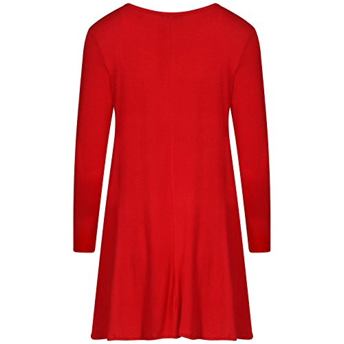 Femmes Elf Body Swing Swing Dress EUR Taille 36-42 Rouge