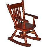 Unbekannt Schaukelstuhl Stuhl aus Dunkel Holz - Maßstab 1:12 - Miniatur für Puppenstube Puppenhaus - Nostalgie Wohnzimmer Möbel Schaukelstühle