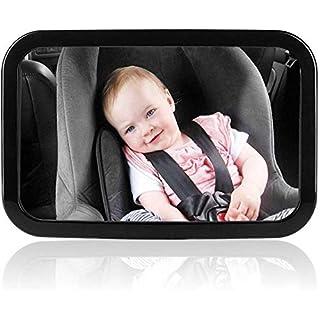 Super Store Rücksitzspiegel für Babys, bruchsicherer Spiegel für Auto Baby mit großem Sichtfeld, Babyspiegel ohne Einzelteile/Schrauben, 360° schwenkbar, Größe 300 x 190 x2,8mm