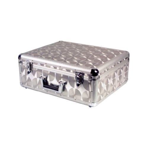 prosound-aluminium-flight-deck-case-dj-lockable-removable-lid-silver-travel-new