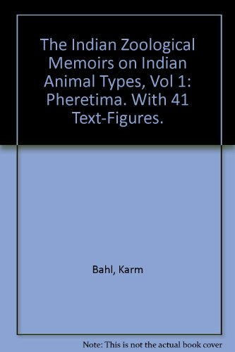 The Indian Zoological Memoirs on Indian Animal Types, Vol 1: Pheretima. With 41 Text-Figures.