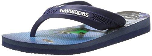 Havaianas Kids Max Planes, Tongs Garçon Multicolore (Navy Blue/Blue 0135)
