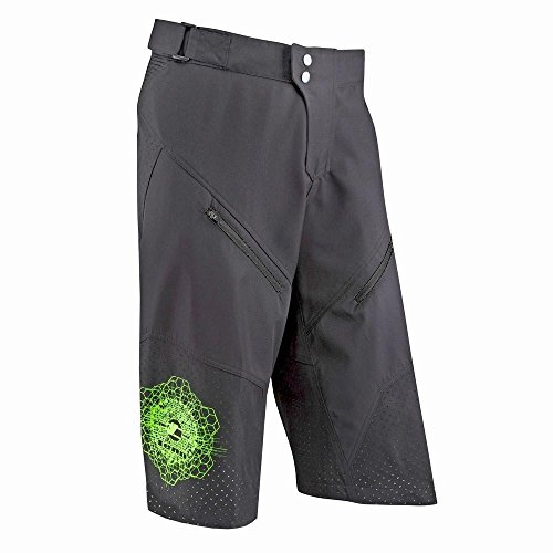 MENS BREEZE MTB/OFF ROAD 3/4 LENGTH SHORTS   BLACK   XS