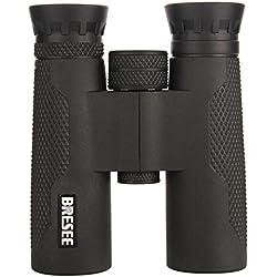 JIANFCR Binoculares para adultos, binoculares compactos 10X32 Binoculares impermeables a prueba de niebla de la imagen ultra HD con lente BAK4 FMC, observación de aves, caza, senderismo, conciertos ( Color : Negro )