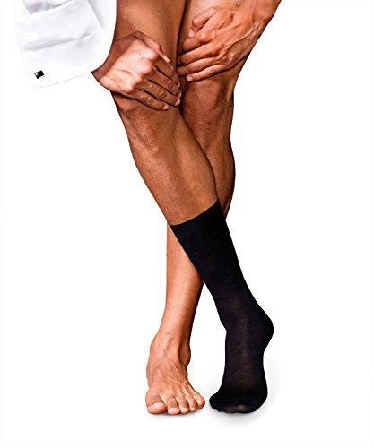 Seide Herren-socken (FALKE Herren No. 6 Finest Merino Wool & Silk Socken, Blickdicht, Black, 43-44)