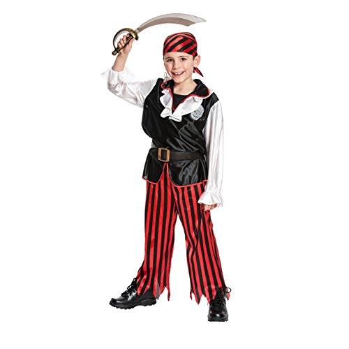 Kostümplanet Piraten-Kostüm Jungen + Piraten-Kopftuch Kinder Kostüm Größe 128