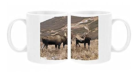 Photo Mug of Alaksan Moose - two bulls rutting