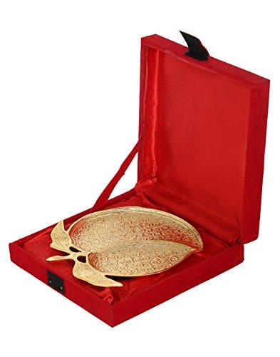 Articoli tradizionali incisione placcato oro Mango