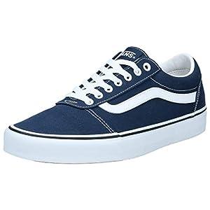 Vans Men's Ward Canvas Low-Top Sneakers, Blue ((Canvas) Dress Blues/White Jy3), 10.5 UK (45 EU)