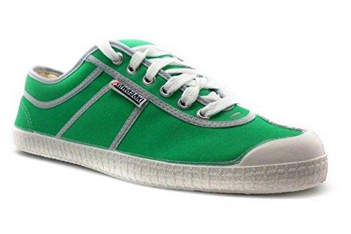 KAWASAKI-Scarpe Da Donna Con Chiusura, Finitura: Pistagna, Colore: Grigio Verde (verde)