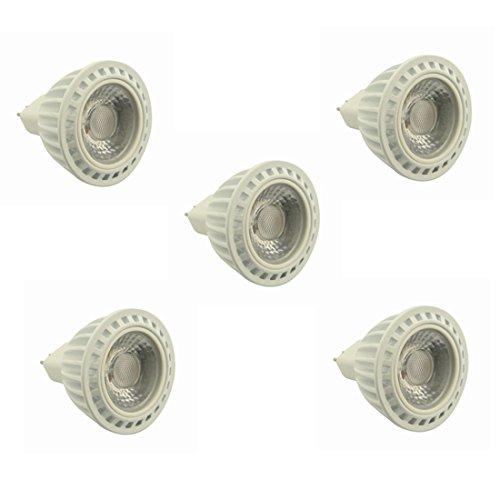 Ampoules , GU5.3 spot lumière 5W MR16 LED ampoule AC / DC 24V 36V non-dimmable blanc chaud / blanc froid 60 degrés angle de faisceau 400-450lm 50W ampoules halogènes équivalent 5-Pack ( Couleur : Blanc Neige , Edition : Ac/dc 36V )