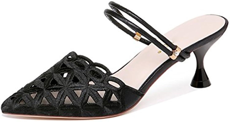 GTVERNH Damenschuhe/7Cm Hochhackigen Schuhe Hat Baotou Zwei Sandalen Sommer Scharfen Outdoor - Damenschuhe.