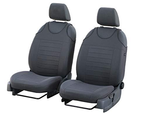 Set di 2 coprisedili universali per Opel Adam, colore: grigio
