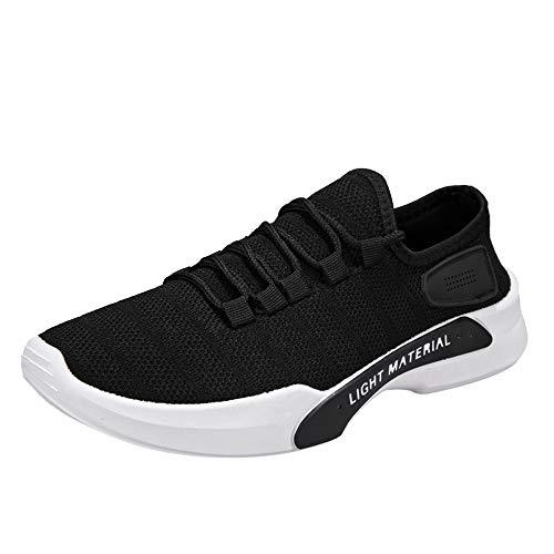 Turnschuhe Männer Weiß,Dasongff Ultraleicht Laufschuhe,Unisex Schnürer Running Shoes,Classic Low-Top Lace-up Sneaker Fitnessschuhe