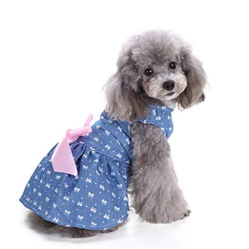 Danm Katzen- / Hunderock, Blue Pet British Wind-Strandrock, Mit Schleifenband, Machen Sie Ihr Haustier auffälliger, weicher und bequemer S