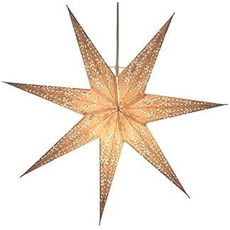 Guru-Shop Estrella de Papel Ligero Plegable de Adviento, Estrella de Navidad 60 cm – Mizar, Estrellas de Papel – Monocromo
