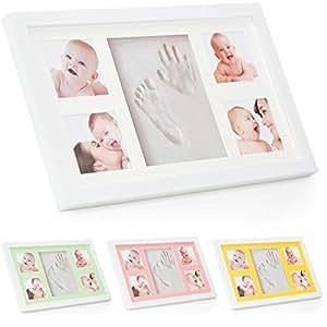 kit de cadre photo moulage de pied et de main de b b babyboon 4 couleurs dans un pack le. Black Bedroom Furniture Sets. Home Design Ideas