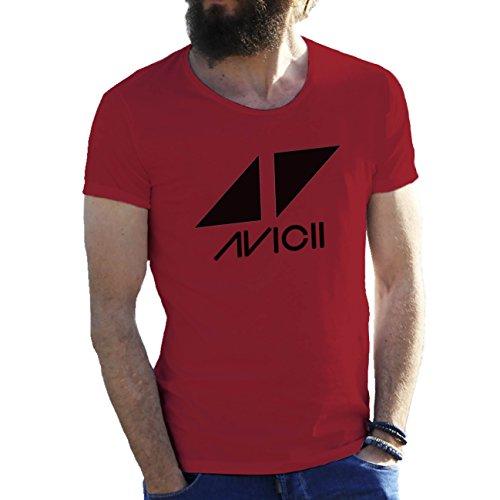 Avicii Tim Berg Electronic Music Star Ibiza Logo Herren T-Shirt Wein rot