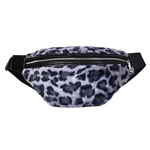 Westeng Cinturón Deportivo Impermeable Riñonera para Correr Fitness Viaje Deportes y Aire Libre Patrón de Leopardo Cinturón de Correr para Mujer y Hombre Size 28 * 16 * 2cm (Azul)