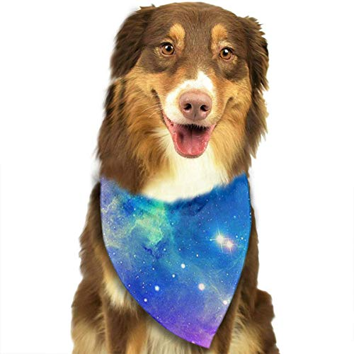 nxnx Colorful Galaxy Nebula Dog Bandanas - Washable and Reversible Triangle Cotton Dog Bibs Scarf Assortment Suitable for Puppy Small and Medium - Denim Womens Kostüm