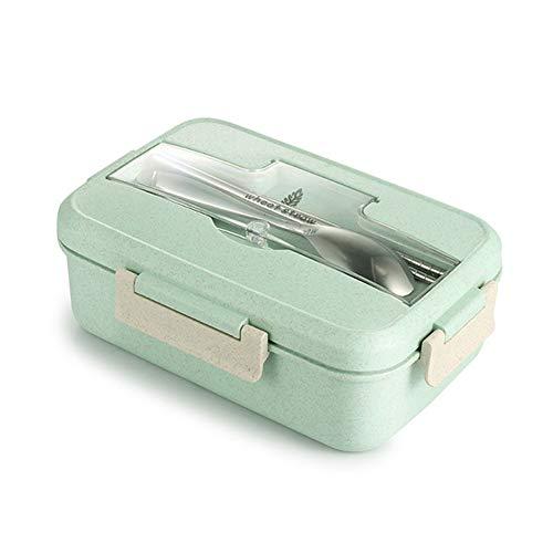 STRUGGGE Bento Box Paja Trigo Caja Almuerzo vajilla