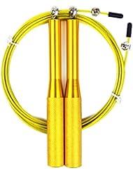 Corde à sauter corde câble fil en acier coloré poignée en aluminium Import réglable vitesse corde à sauter de boxe